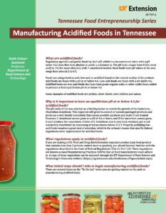 Manufacturing Acidified Foods in Tennessee