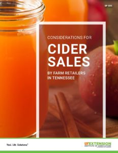 Cider Sales in Tennessee
